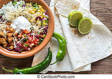 Chicken burrito bowl - Burrito bowl