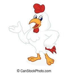 Chicken cartoon presenting