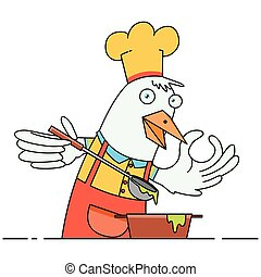 Chicken Chef Cooking Soup