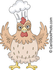 Chicken Chef Mascot