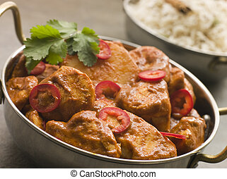 Chicken Chili Tikka Masala with Fragrant Basmati Rice
