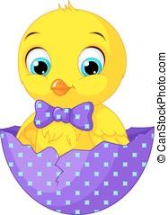 Chicken - Image cartoon chicken in egg