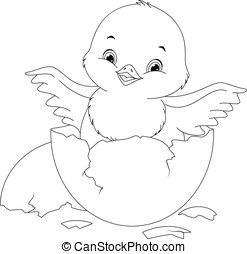 chicken coloring page - Chick Coloring Page