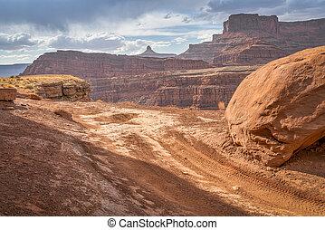 Chicken Corner road near Moab, Utah