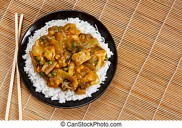 Chicken Curry a popular asian dish available at chinese take...