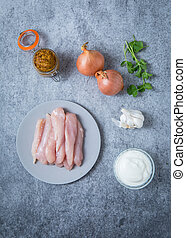 Chicken Curry Pasta Onions Garlic Yogurt and Cilantro