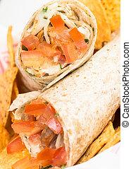 Chicken Doner Kebab or Shawarma
