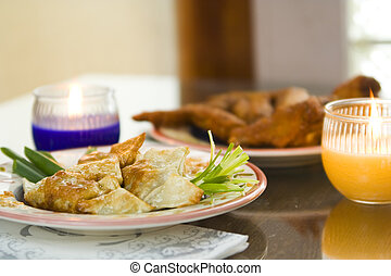 Chicken Dumpling And Chicken Wings 2 - chinese pan fried ...