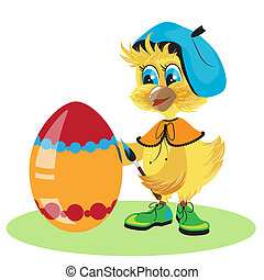 chicken egg dye for Easter - The chicken egg dye for Easter