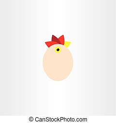 chicken egg vector element icon symbol sign