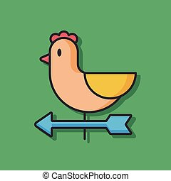 chicken egg vector icon