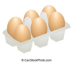 egg - Chicken eggs. broken egg yolk. Eggs inside the box.