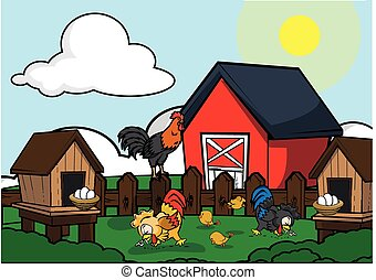 Chicken farm house