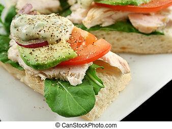 Chicken Finger Sandwich - Fresh open chicken finger...