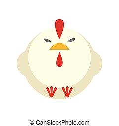 Chicken flat illustration