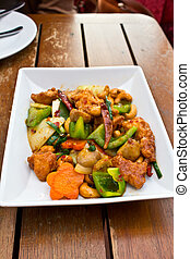 Chicken Fried with Cashew Nuts and Chili 2
