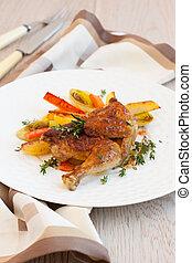 chicken, geroosterd