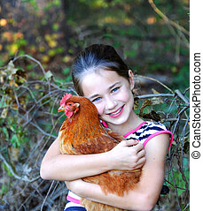 Chicken Gets a Big Hug