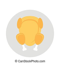 chicken glyphs color circle icon