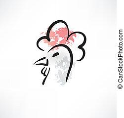 chicken head grunge icon