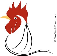 chicken head grunge icon. Vector illustration