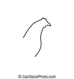 Chicken head line icon.