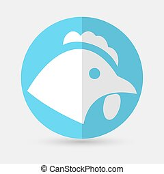 chicken icon on a white background