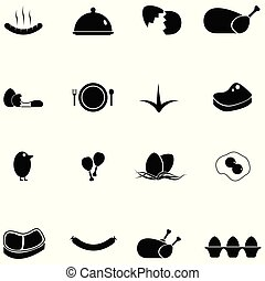 chicken icon set
