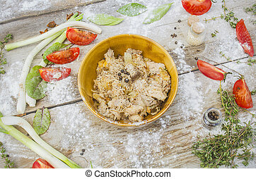 Chicken in a bowl