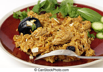 Chicken kabsa dinner