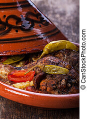 chicken legs in a tajine