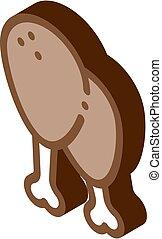 chicken legs isometric icon vector illustration - chicken ...