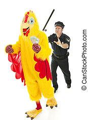 Chicken Man on the Lam