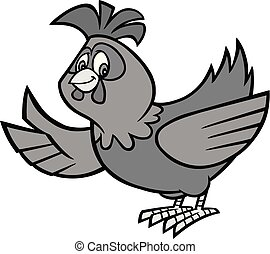Chicken Mascot Illustration