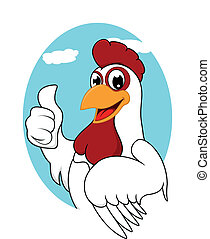 Chicken Mascot - Vector Illustration Of Chicken Mascot