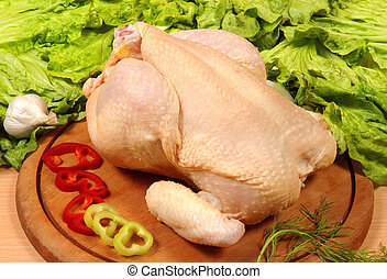 chicken meat at market