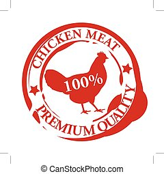 chicken meat rubber stamp