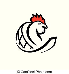 Chicken meat trade sign