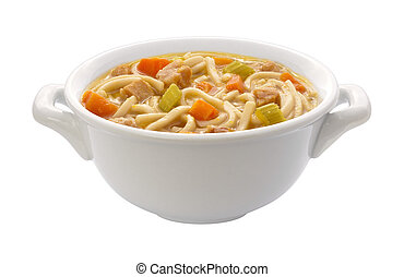Chicken Noodle Soup (clipping path) - Chicken Noodle Soup...