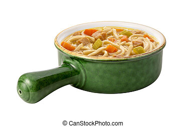 Chicken Noodle Soup isolated