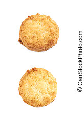 Chicken nugget isolated over the white background, set of...