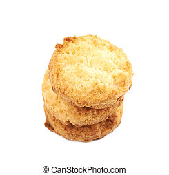 Chicken nugget isolated over the white background