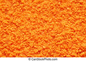 Chicken nugget texture - Texture of orange crispy chicken...