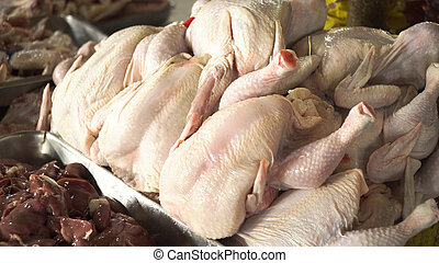 Chicken on the market.