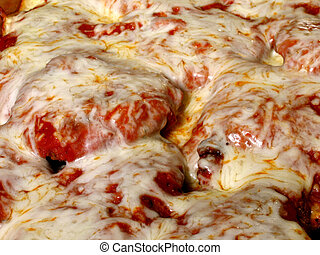 Chicken Parmesan - Steaming chicken parmesan with melted...