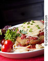 Chicken Parmigiana - Chicken parmesan or parmigiana, with ...