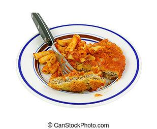 Chicken Pasta Marinara With Fork