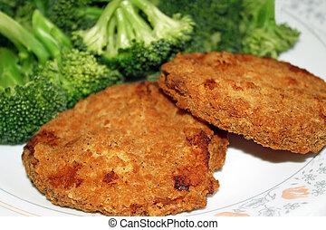 Chicken Patties With Brocolli - Crispy breaded chicken ...