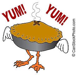 Chicken Pot Pie - An image of a chicken pot pie cartoon...