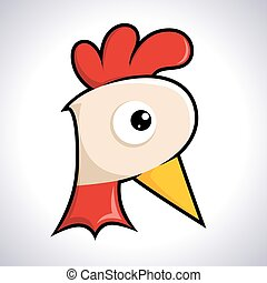 Chicken Rooster Head Icon Symbol